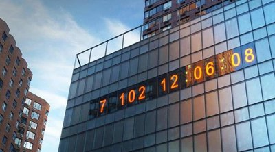 «Climate Clock» στη Νέα Υόρκη