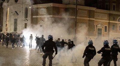 Ιταλία-κορωνοϊός: Επεισόδια διαδηλωτών - αστυνομίας στη Ρώμη για την απαγόρευση της κυκλοφορίας