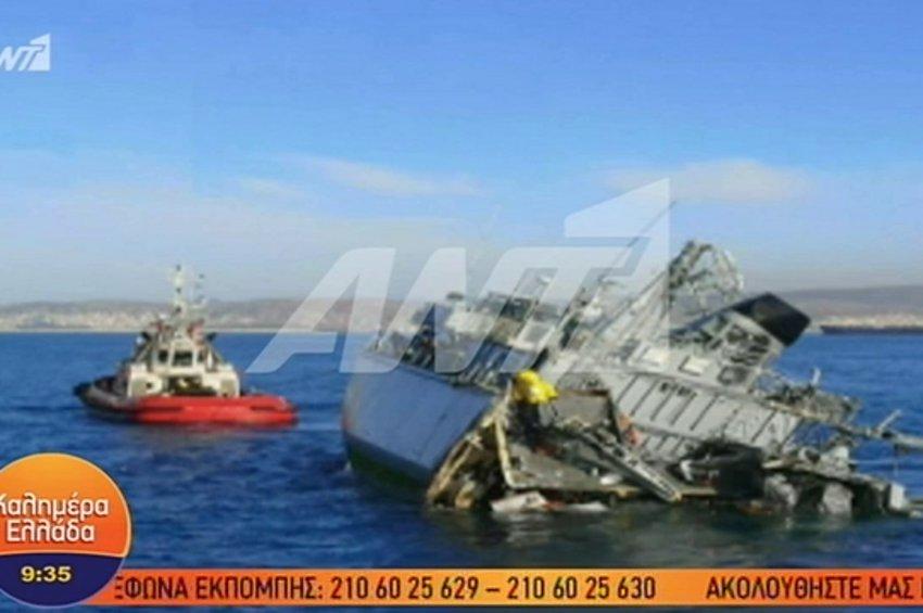 Πειραιάς: Εμπορικό πλοίο συγκρούστηκε με το ναρκοθηρευτικό του Πολεμικού Ναυτικού «Καλλιστώ» - ΒΙΝΤΕΟ