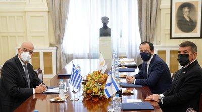 Δένδιας: Ελλάδα, Κύπρος και Ισραήλ δημιουργούν «μια νέα γεωγραφία κατανοήσεων»     «Δημιουργούμε μια νέα γεωγραφία κατανοήσεων που