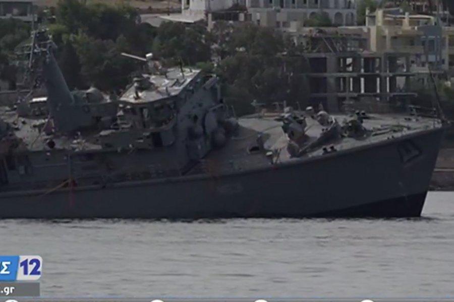 Σοκάρουν οι εικόνες από το πλοίο του ΠΝ «Καλλιστώ» - Κόπηκε στα δύο έπειτα από σύγκρουση με εμπορικό - ΒΙΝΤΕΟ