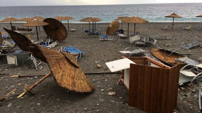 Κακοκαιρία στα Χανιά: Δεν άφησε τίποτα όρθιο η «Κίρκη» στη Σούγια - ΦΩΤΟ