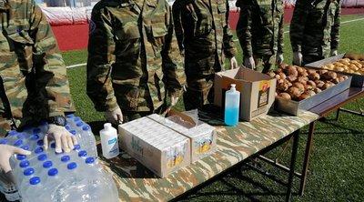 Σεισμός: Ο Στρατός στο πλευρό των πληγέντων στην Σάμο - ΦΩΤΟ