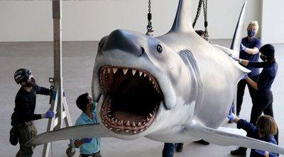 ΗΠΑ: Ο καρχαρίας από τα «Σαγόνια του Καρχαρία» έτοιμος να τρομοκρατήσει τους επισκέπτες στο Mουσείο των Όσκαρ