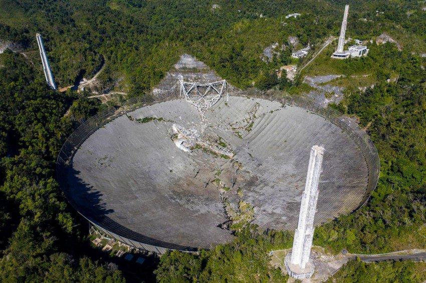 Πουέρτο Ρίκο: Η στιγμή της κατάρρευσης του γιγαντιαίου τηλεσκόπιου του Arecibo - ΒΙΝΤΕΟ