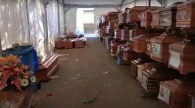 Ιταλία: Γέμισαν τα νεκροταφεία στο Παλέρμο - Στοιβαγμένα 700 φέρετρα με νεκρούς από κορωνοϊό - ΒΙΝΤΕΟ