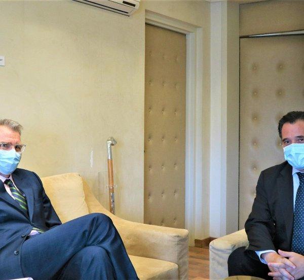 Συνάντηση Γεωργιάδη - Πάιατ: Στο επίκεντρο οι ελληνοαμερικανικές σχέσεις, με τη νέα κυβέρνηση των ΗΠΑ