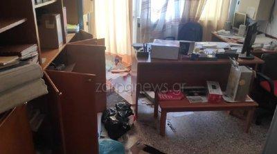 Χανιά: Σημαντικές υλικές ζημιές στο εσωτερικό και τα γραφεία του Εργατικού Κέντρου της πόλης προκάλεσαν άγνωστοι