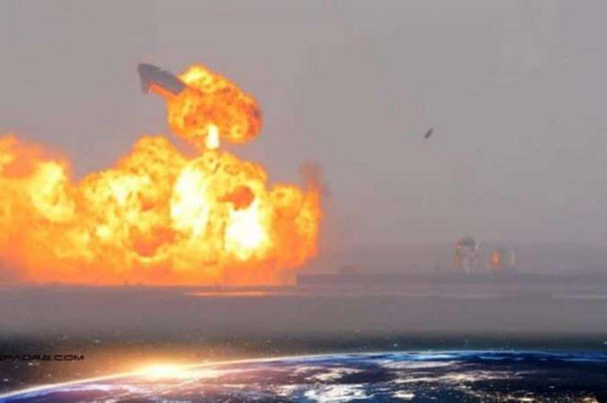 Eξερράγη και ο τρίτος υπό δοκιμή πύραυλος Starship της Space X - Λίγο μετά την προσγείωσή του - ΒΙΝΤΕΟ