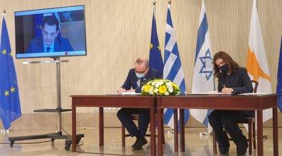 Κύπρος, Ελλάδα και Ισραήλ υπέγραψαν Μνημόνιο Συναντίληψης για συνεργασία σε σχέση με το έργο «EuroAsia Interconnector»