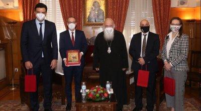 Επίσκεψη Κικίλια και περιφερειακού διευθυντή Ευρώπης του ΠΟΥ στον Αρχιεπίσκοπο Ιερώνυμο - Tα μηνύματα για την πανδημία