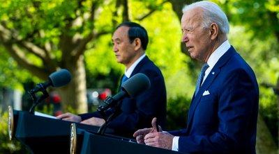 Μπάιντεν-Σούγκα: ΗΠΑ και Ιαπωνία θα αντιμετωπίσουν «μαζί» τις «προκλήσεις» της Κίνας