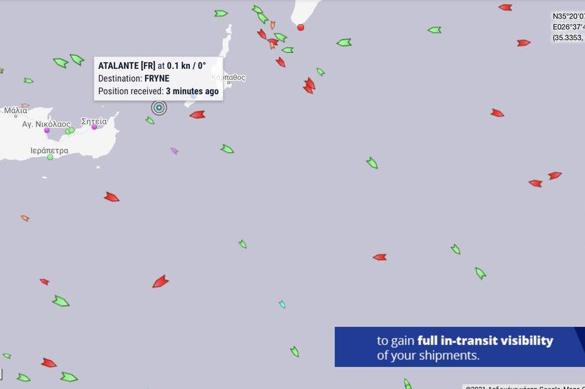 Δεν υποχώρησαν οι Γάλλοι στους «τουρκικούς τσαμπουκάδες» - Συνεχίζει την πορεία του το ερευνητικό σκάφος L' Atalante