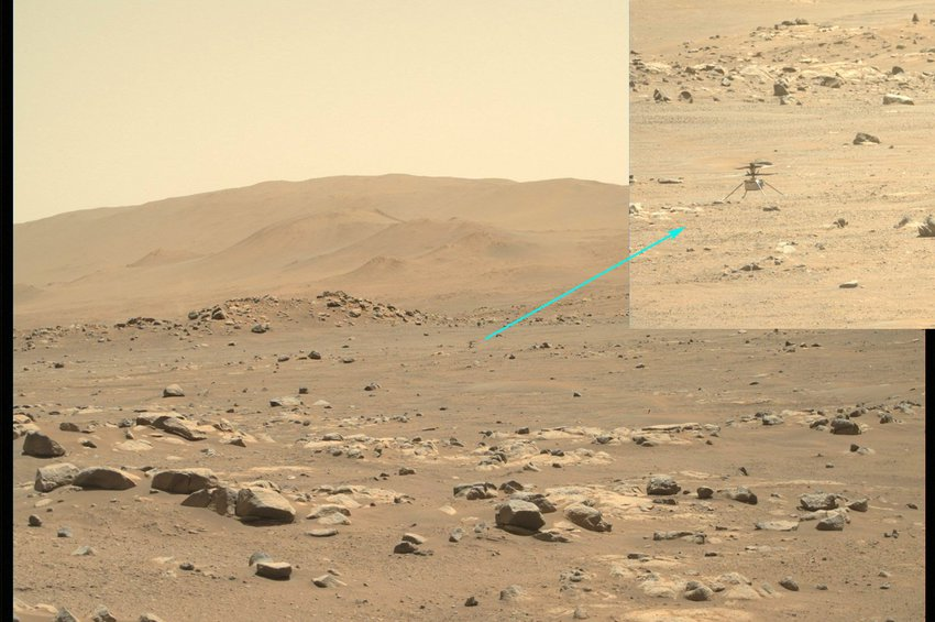 «Ingenuity»: Πραγματοποίησε την πέμπτη του πτήση στον πλανήτη Άρη, στην πορεία του προς το νέο χώρο προσγείωσης
