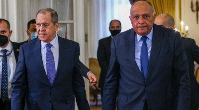Αίγυπτος και Ρωσία καλούν το Ισραήλ να σταματήσει τις επιθέσεις εναντίον της Γάζας - Eπικοινωνία Σούκρι - Λαβρόφ