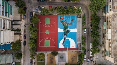 «Καινούρια» τα γήπεδα μπάσκετ των Σεπολίων προς τιμήν του Γιάννη Αντετοκούνμπο - ΦΩΤΟ