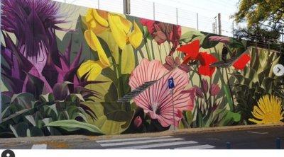 Τροπική βλάστηση στις τοιχογραφίες του Thiago Mazza