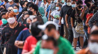Ταϊλάνδη: Διαδηλωτές ζητούν την παραίτηση του πρωθυπουργού, ενώ τα κρούσματα αυξάνονται