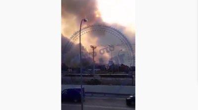 Βίντεο-ντοκουμέντα από τη μάχη της Πυροσβεστικής να κρατήσει τη φωτιά μακριά από την εθνική οδό