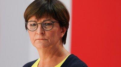 Γερμανία-Eκλογές: Yπέρ της απομάκρυνσης από τον ισοσκελισμένο προϋπολογισμό η συμπρόεδρος του SPD Σάσκα Έσκεν
