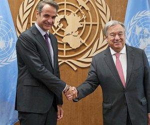 Συνάντηση Μητσοτάκη-Γκουτέρες: Η Ελλάδα σταθερά υπέρμαχος της ειρήνης στην Αν. Μεσόγειο