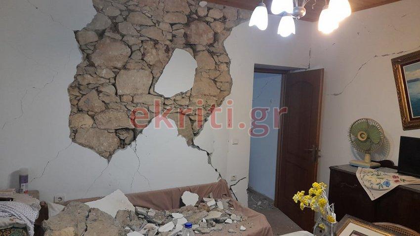 Φονικά Ρίχτερ στην Κρήτη: Kαταστροφές σε επιχειρήσεις και σπίτια - ΦΩΤΟ-ΒΙΝΤΕΟ
