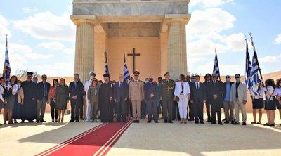 Ο Αιγυπτιώτης Ελληνισμός έκλινε ευλαβικά το γόνυ στους νεκρούς της ηρωικής μάχης του Ελ Αλαμέιν