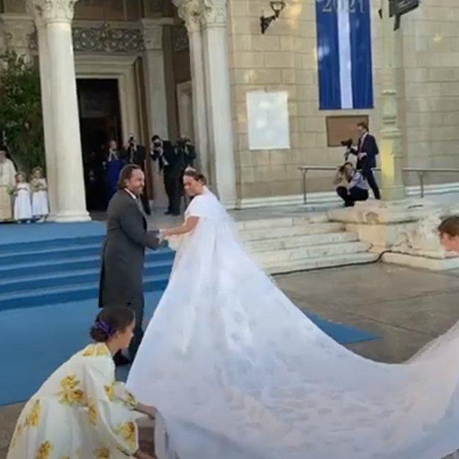 Πρίγκιπας Φίλιππος – Nina Flohr: Βασιλικός γάμος στη Μητρόπολη - Βίντεο