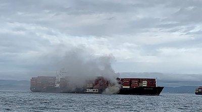 Καναδάς: Έκλυση τοξικών αερίων από φωτιά σε πλοίο μεταφοράς εμπορευματοκιβωτίων, στο Βανκούβερ