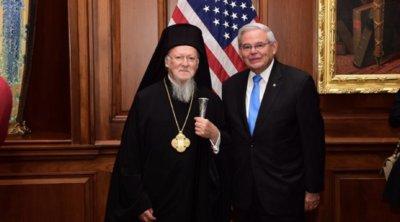 Μπαράζ συναντήσεων Οικουμενικού Πατριάρχη Βαρθολομαίου στο Κογκρέσο με Νάνσι Πελόζι, Τσακ Σούμερ και Ρόμπερτ Μενέντεζ